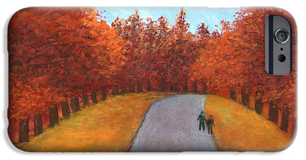 Pathway Pastels iPhone Cases - Out for a Walk iPhone Case by Ginny Neece
