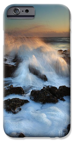 Over the Rocks iPhone Case by Mike  Dawson