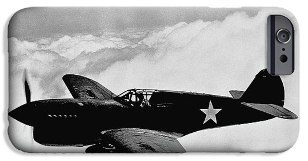 Planes Photographs iPhone Cases - P-40 Warhawk iPhone Case by War Is Hell Store