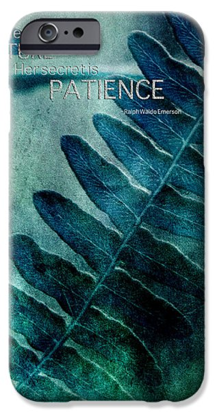 Flora Mixed Media iPhone Cases - Pace of Nature iPhone Case by Bonnie Bruno