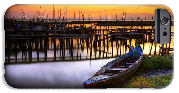 Bay Photographs iPhone Cases - Palaffite port iPhone Case by Carlos Caetano