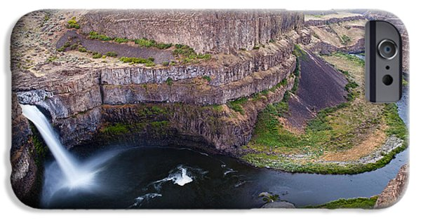 Fall iPhone Cases - Palouse Falls iPhone Case by Mike Reid