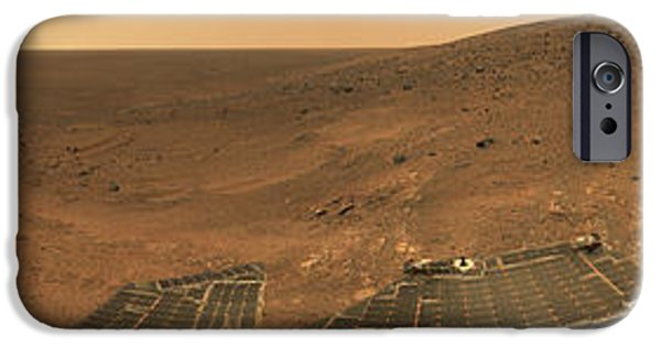 July iPhone Cases - Panorama From Columbia Hills, Mars iPhone Case by NASA/Science Source
