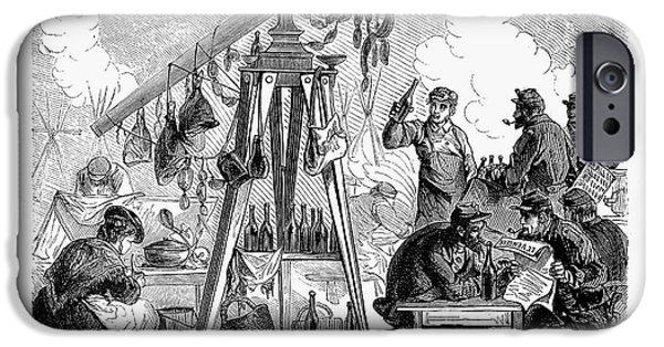 1871 iPhone Cases - Paris Commune, 1871 iPhone Case by Granger
