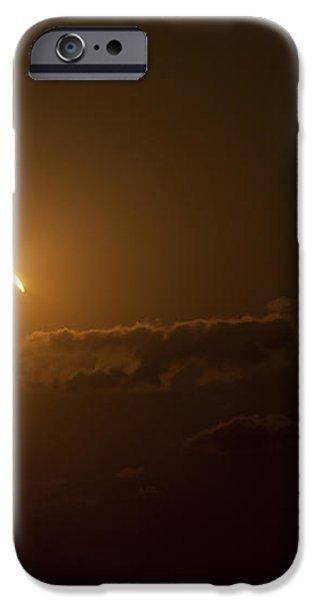 Partial Solar Eclipse iPhone Case by Phillip Jones