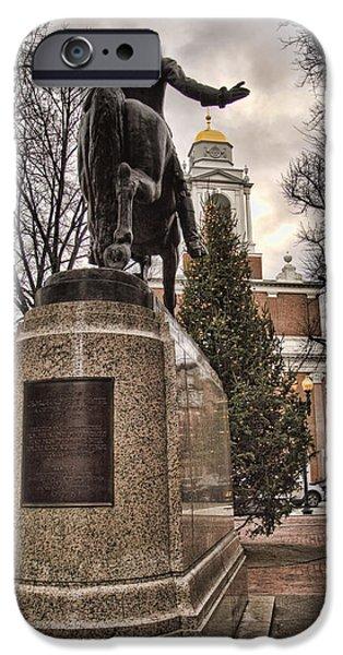 Paul Revere-Statue iPhone Case by Joann Vitali