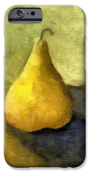 Pear Still Life iPhone Case by Michelle Calkins