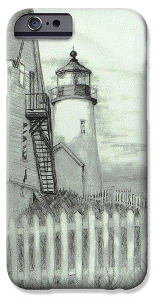 Jack Skinner iPhone Cases - Pemaquid lighthouse  iPhone Case by Jack Skinner