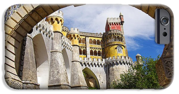 Arabian iPhone Cases - Pena Palace iPhone Case by Carlos Caetano