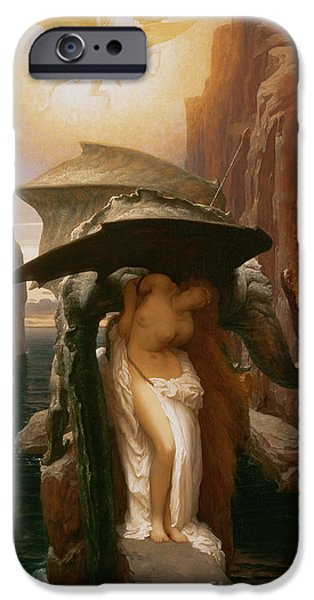 Leighton Frederic 1830-96 iPhone Cases - Perseus and Andromeda iPhone Case by Frederic Leighton