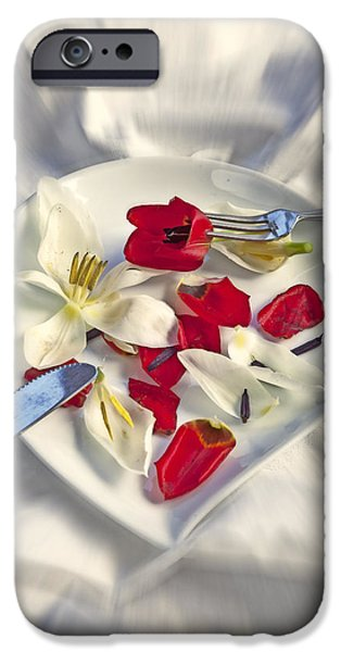 Table Cloth iPhone Cases - Petals iPhone Case by Joana Kruse