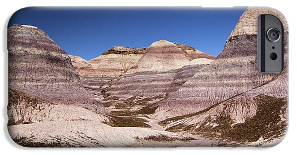 Petrified Forest Arizona iPhone Cases - Petrified Forest Blue Mesa iPhone Case by Adam Jewell