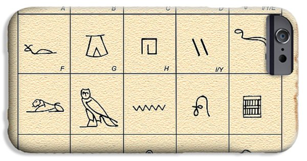Graphic Language iPhone Cases - Phonetic Egyptian Hieroglyphs iPhone Case by Sheila Terry
