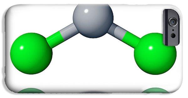 World War One iPhone Cases - Phosgene Molecule iPhone Case by Laguna Design