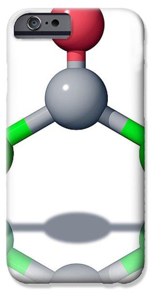 Phosgene Molecule iPhone Case by Laguna Design