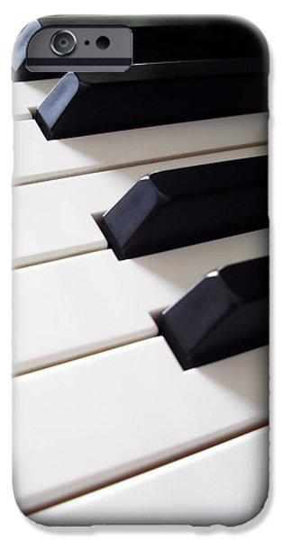 Piano iPhone Cases - Piano Keys iPhone Case by Carlos Caetano