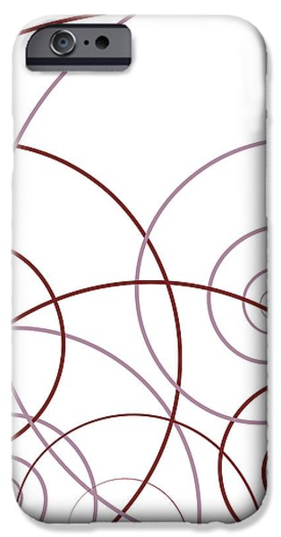 Abstract Drawings iPhone Cases - Pink And Red Abstract iPhone Case by Frank Tschakert