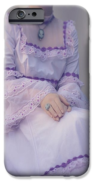 Edwardian iPhone Cases - Pink Wedding Dress iPhone Case by Joana Kruse