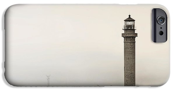 Lightstations iPhone Cases - Point Arena Lighthouse CA iPhone Case by Christine Till