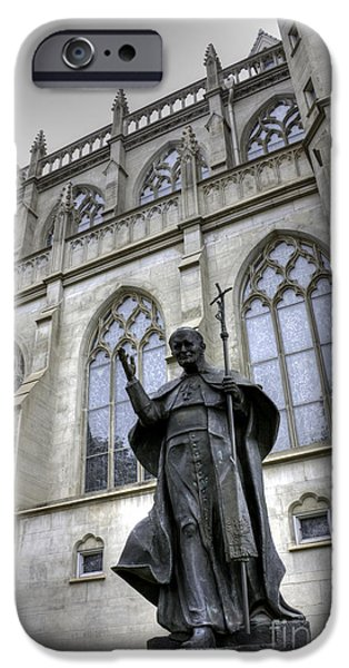 Pope iPhone Cases - Pope John Paul I I iPhone Case by David Bearden