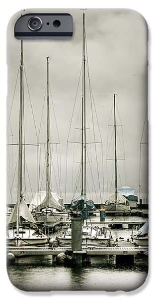 port on a rainy day iPhone Case by Joana Kruse