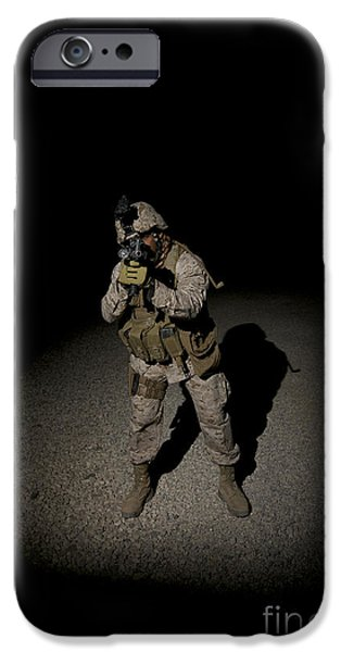 Portrait Of A U.s. Marine iPhone Case by Terry Moore