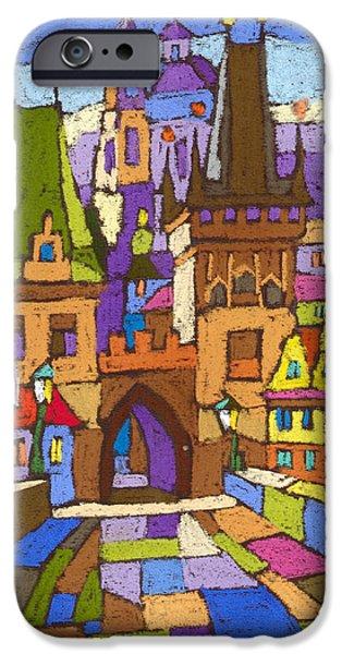 Decorativ iPhone Cases - Prague Charles Bridge 01 iPhone Case by Yuriy  Shevchuk