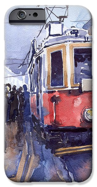 Prague Old Tram 03 iPhone Case by Yuriy  Shevchuk