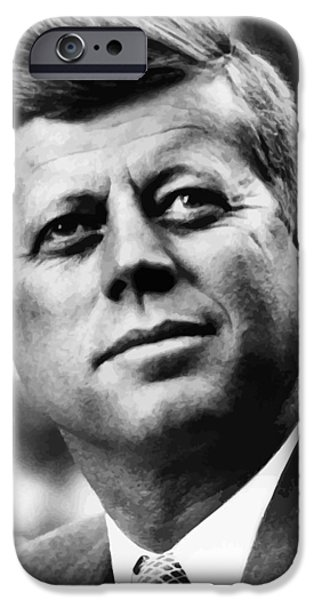 Us Presidents iPhone Cases - President Kennedy iPhone Case by War Is Hell Store