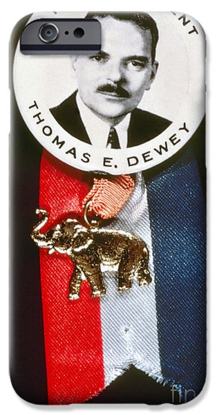 Presidential Elections iPhone Cases - Presidential Campaign 1944 iPhone Case by Granger