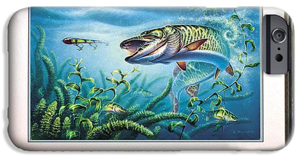 Musky Paintings iPhone Cases - Provoked Musky iPhone Case by JQ Licensing