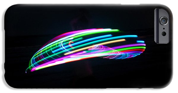 Jugglers iPhone Cases - Psychedelic Hula Hoop iPhone Case by Ilan Rosen