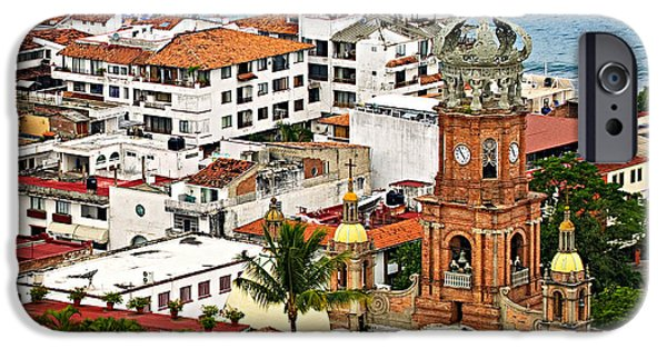 Rooftop iPhone Cases - Puerto Vallarta iPhone Case by Elena Elisseeva