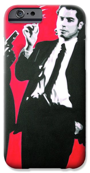 Ludzska iPhone Cases - Pulp Fiction iPhone Case by Luis Ludzska