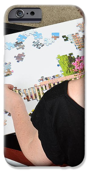 Puzzle Therapy iPhone Case by Photo Researchers, Inc.
