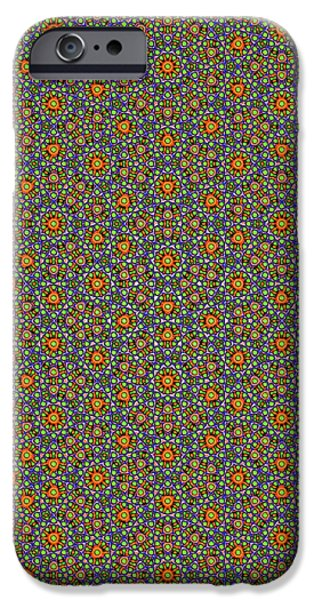 Model iPhone Cases - Quasicrystal iPhone Case by Eric Heller