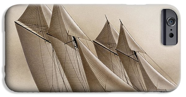 Tall Ship iPhone Cases - Racing Yachts iPhone Case by James Williamson