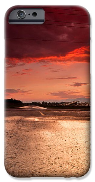Railroad Sunset iPhone Case by Cale Best