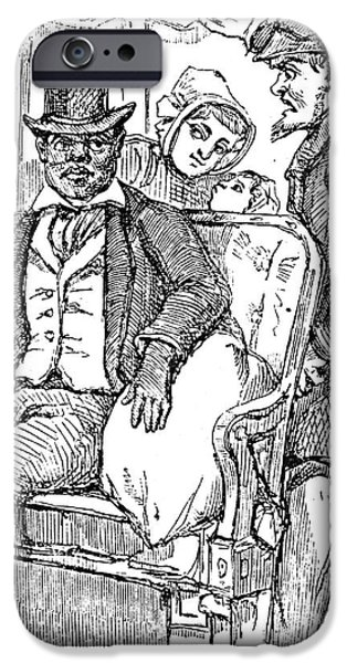 RAILWAY SEGREGATION, 1856 iPhone Case by Granger