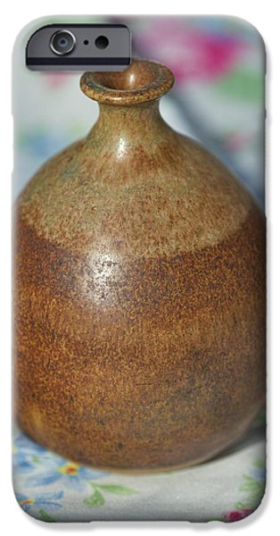 Master Potter iPhone Cases - Rare John Regis Tuska Pottery Vase iPhone Case by Kathy Clark
