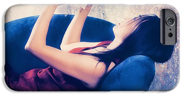 Woman Photographs iPhone Cases - Reading iPhone Case by Joana Kruse