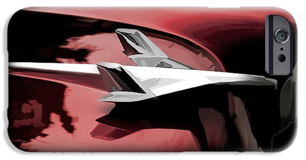 Abstractions Digital iPhone Cases - Red Chevy Jet iPhone Case by Douglas Pittman
