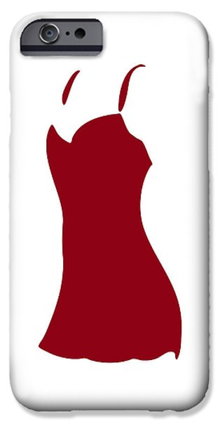 Underwear iPhone Cases - Red Dress iPhone Case by Frank Tschakert
