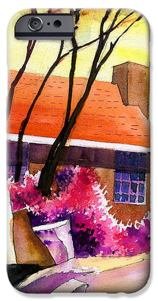 Red House iPhone Case by Anil Nene