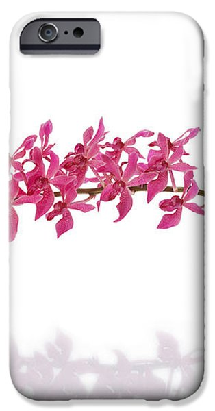 red orchid iPhone Case by ATIKETTA SANGASAENG