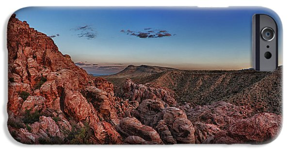 Red Photographs iPhone Cases - Red Rock Sunset iPhone Case by Rick Berk