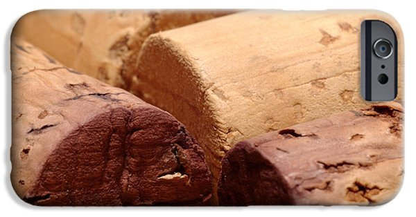 Cellar iPhone Cases - Red Wine Corks iPhone Case by Frank Tschakert