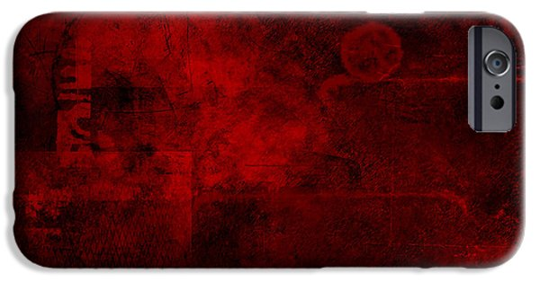 Plotting Paintings iPhone Cases - Redstone iPhone Case by Christopher Gaston