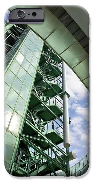 Buildings iPhone Cases - Refinery Detail iPhone Case by Carlos Caetano