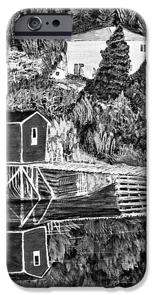 Reflections B W iPhone Case by Barbara Griffin
